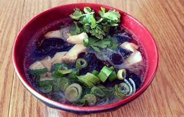 Asian Chicken Noodle Bowl In Dashi Broth