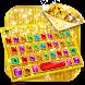 最新版、クールな Luxury Gold Jewelry のテーマキーボード