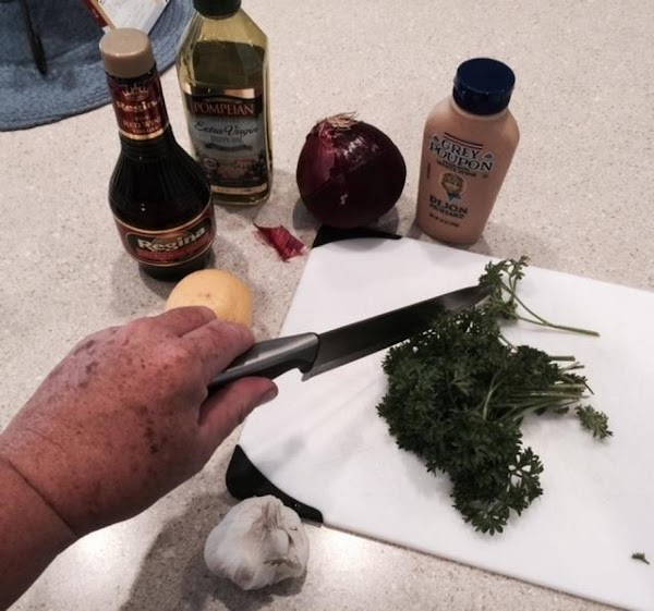 Dressing: combine first 8 ingredients, stirring well with a whisk.