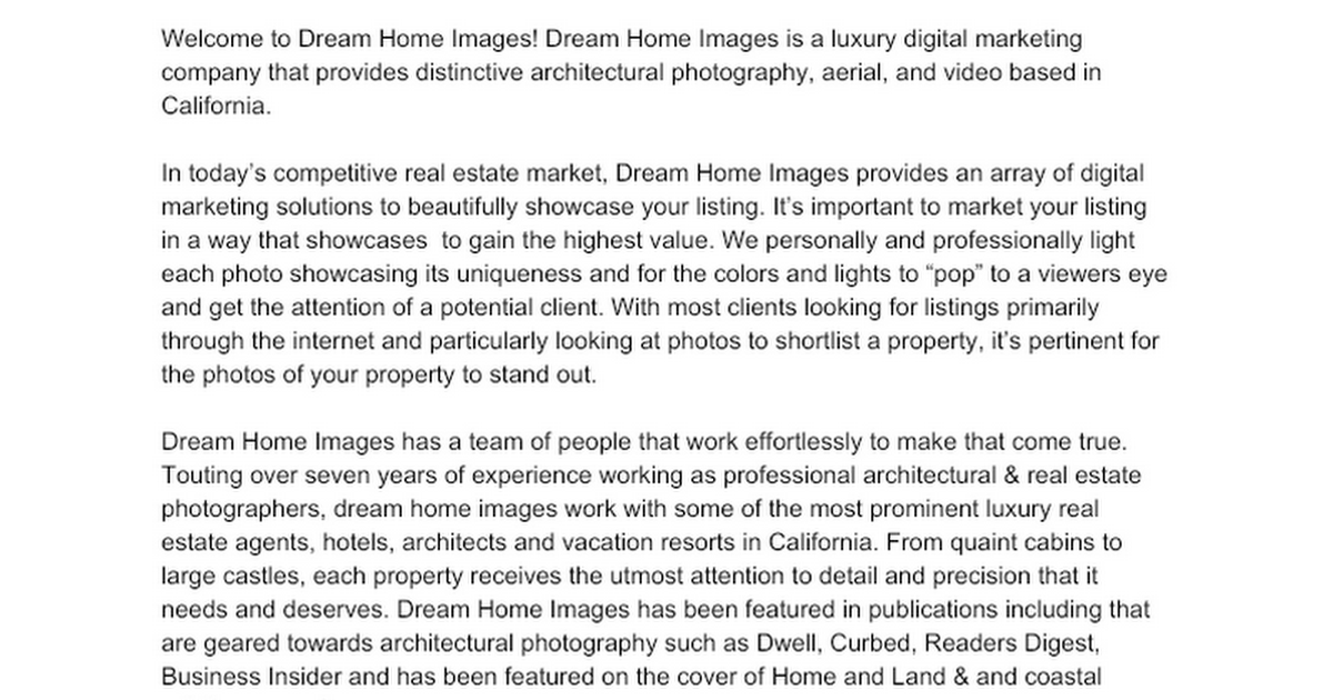 B2C Copywriting: Real Estate photography