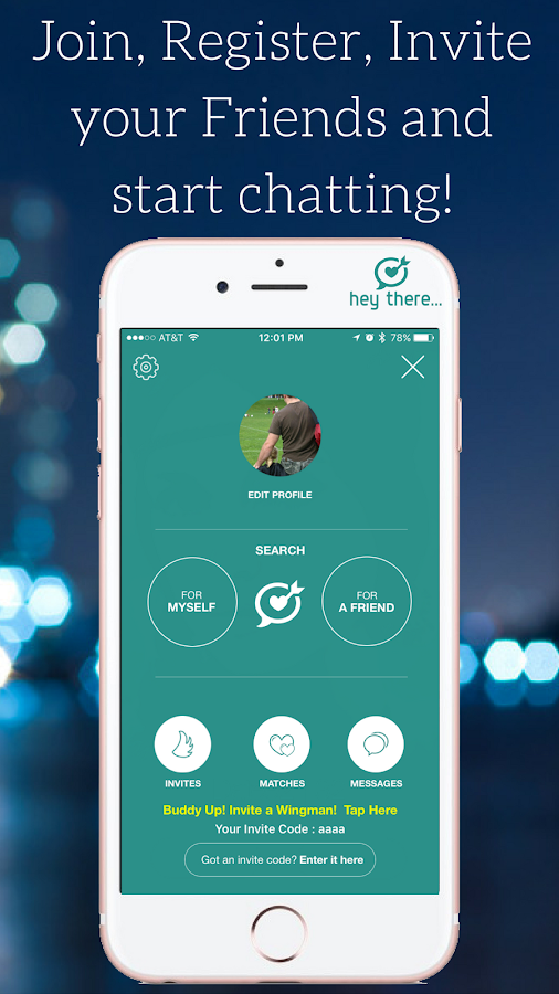 HeyThere - Wingman Matchmaking Social Network- screenshot