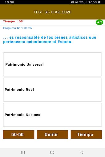 CCSE 2020 Examen Nacionalidad Espau00f1ola screenshots 5