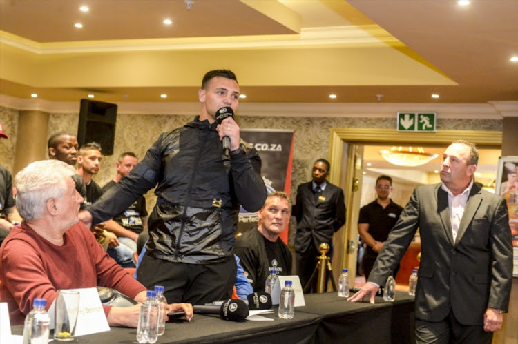 Boxer Kevin Lerena during the Emperors Palace, Supersport and GOLDEN Gloves announcement of the Supersport/Emperors Palace Three Tournament Festival of Boxing at Lucretia Room, Emperors Palace at June 11, 2018 in Johannesburg, South Africa.
