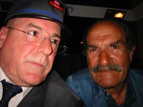 Photo: ...un petit privilège avec l' acteur Gérard Hernandez de retour à Paris Montparnasse, un habitué du TGV