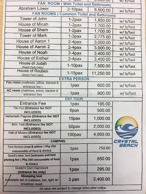 Crystal Beach Resort Room Rate