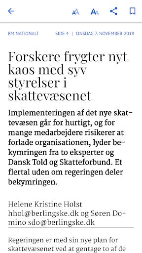 berlingske e-avis screenshot 3
