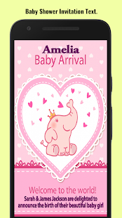Baby shower invitation maker apps on google play screenshot image filmwisefo