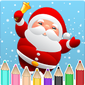 Kids coloring book christmas
