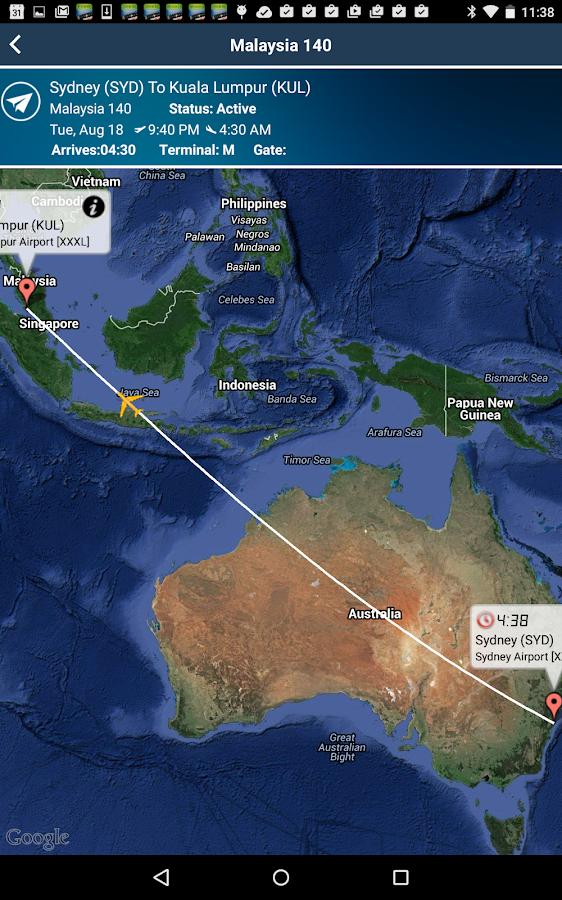 Kuala Lumpur Airport Kul Flight Tracker Android Apps On