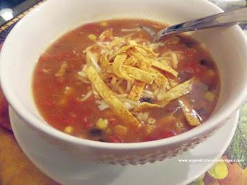 Quick Mexican Chicken Tortilla Soup Recipe