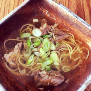 Filipino Pork Noodle Soup in Instant Pot.