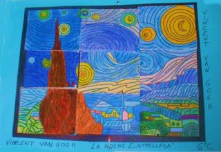 """Photo: Composición Grupal Van Gogh """"La Noche Estrellada"""" 6ºC"""