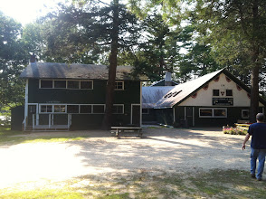 Photo: Looking at the Store and the Dining Hall. The Dining Hall will be the Cotting House (Tavern). The Store will be Mod Space.