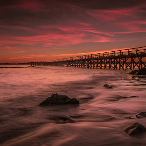 because it's there by Michael Otero - Landscapes Sunsets & Sunrises ( water, singh ray, polarizer, colors, movement, pier, vibrant )