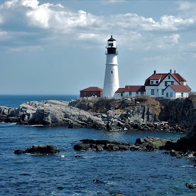by Moe Cusick - Buildings & Architecture Public & Historical ( maine, lighthouse )