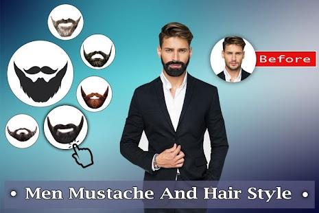 Man Mustache Hair Style : Stylish Man Photo Editor - náhled
