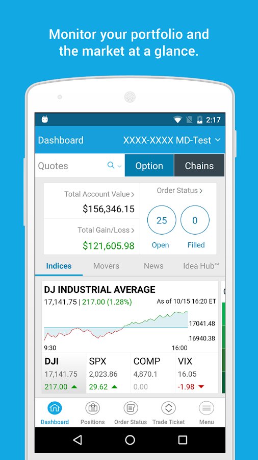 optionsXpress- screenshot