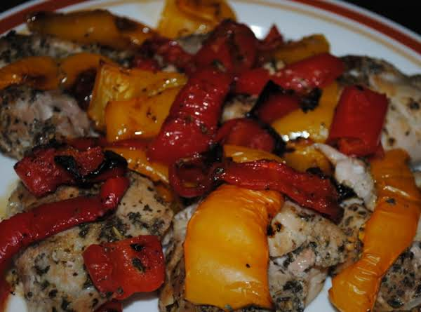 Chicken & Roasted Peppers Recipe