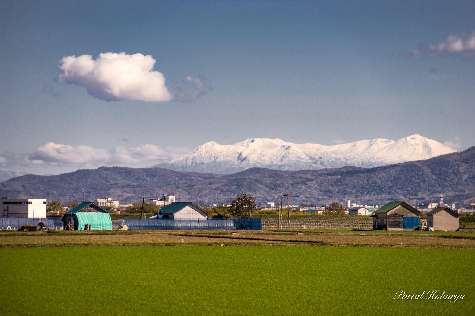 冠雪の大雪山連峰