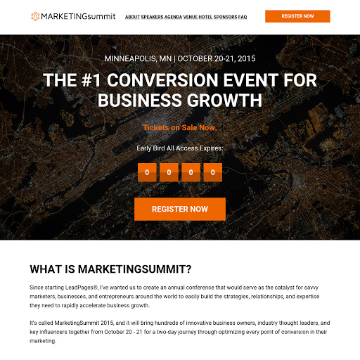 Landing page templates by leadpages eventbrite event page preview template pronofoot35fo Image collections