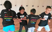 Kids practise techniques during a self-defence class at Kids Academy in Midrand. /SUPPLIED