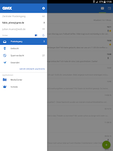 GMX Mail Screenshot