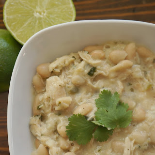 White Chicken Chili with Cilantro and Lime