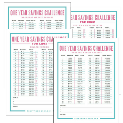 Yearly Savings Challenge Forms