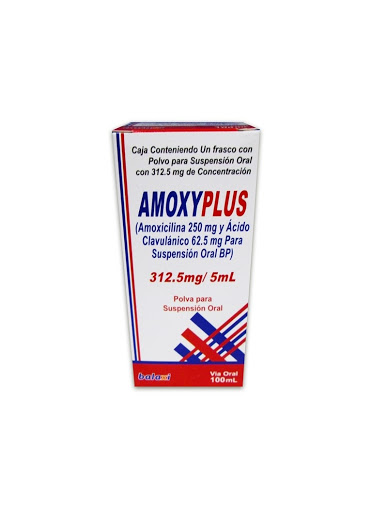 Amoxicilina + Acido Clavulanico Amoxy Plus 312,5mg/5ml