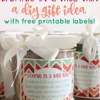 Brownie in a Mug Mix & DIY Gift Idea.