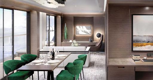 evrima-The-Grand-Suite-Living-Area.jpg - The living area of a Grand Suite aboard the new luxury yacht Evrima.