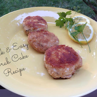 Quick & Easy Crab Cake.