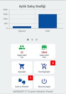 AKINSOFT E-Ticaret Yönetici - náhled