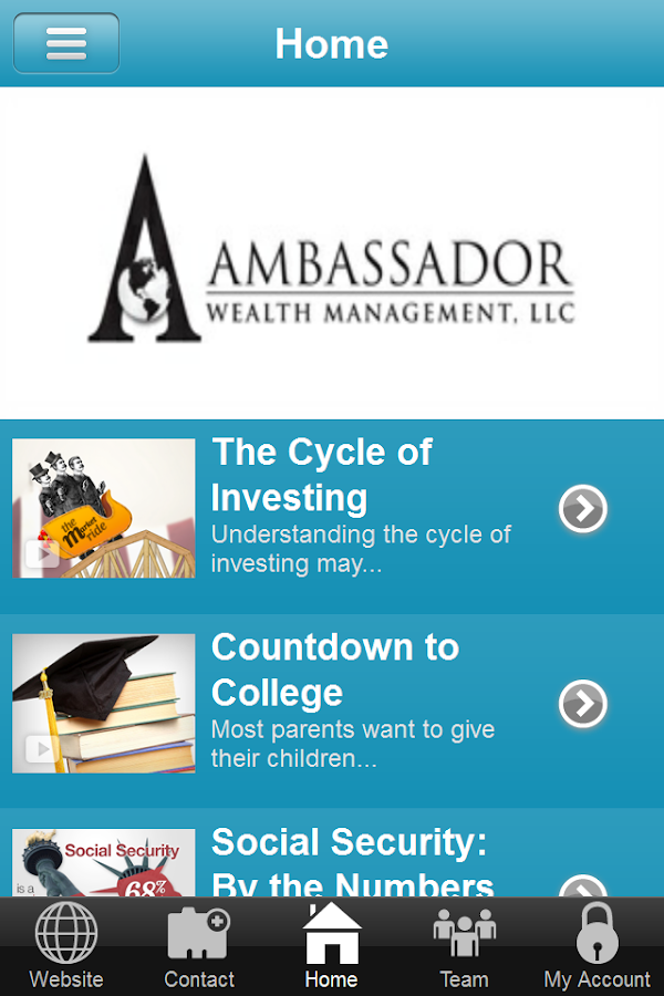 Ambassador Wealth Management- screenshot