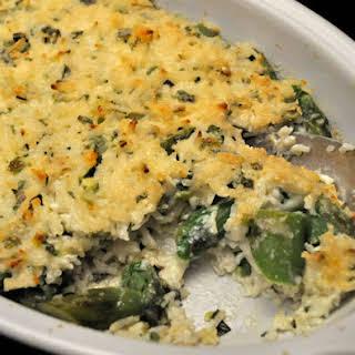 Rice and Asparagus Gratin.