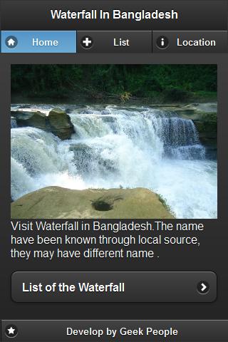 Waterfall in Bangladesh