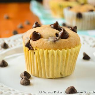 Skinny Banana Chocolate Chip Muffins.