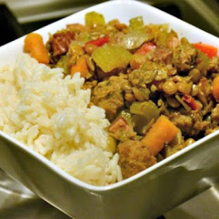 Slow Cooker Sausage, Bacon and Lentil Stew Recipe
