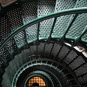 Currituck Light Spiral by Teresa Daines - Buildings & Architecture Architectural Detail ( lighthouse, currituck,  )