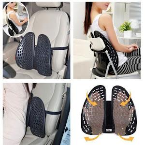 Suport lombar dublu, reglabil, pentru scaun
