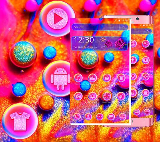 Colorful Shining Glitter Ball Theme ss3