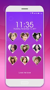 love pattern lock screen - náhled
