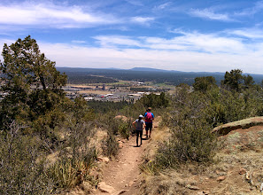 "Photo: ""Fatman's Loop"" trail overlooking a Purina plant"