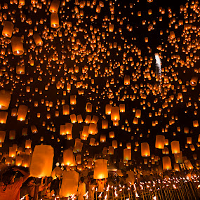 by Sherry Zhao - Artistic Objects Other Objects ( lantern, thailand, night, travel, fest )