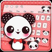 Tải Lovely Panda Bow Theme Keyboard miễn phí