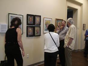 Photo: 4-21-13 Les & Sydelle Art exhibit at Weissman Ctr