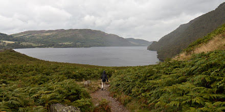 Photo: Because the ferry schedules didn't work out in our favor, we hiked from Glenridding to Howetown and then took the ferry back (it's normally done the other way). The weather wasn't great our first day in the Lake District but we still had a great time.