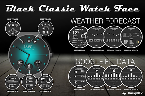 Black Classic Watch Face - náhled