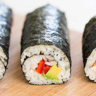 Vegan Sushi And Homemade Pickled Ginger