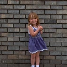 Mackayla in her purple dress by Gregg Landry - Babies & Children Child Portraits ( children, missoula, kids, cute, smiles )